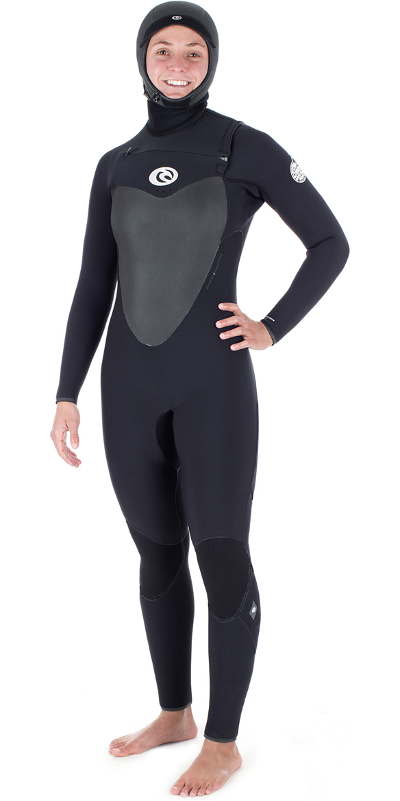 2018 Rip Curl Womens Flashbomb 6 4mm Hooded Chest Zip Wetsuit BLACK WST7HG  ... 0f31d91ea