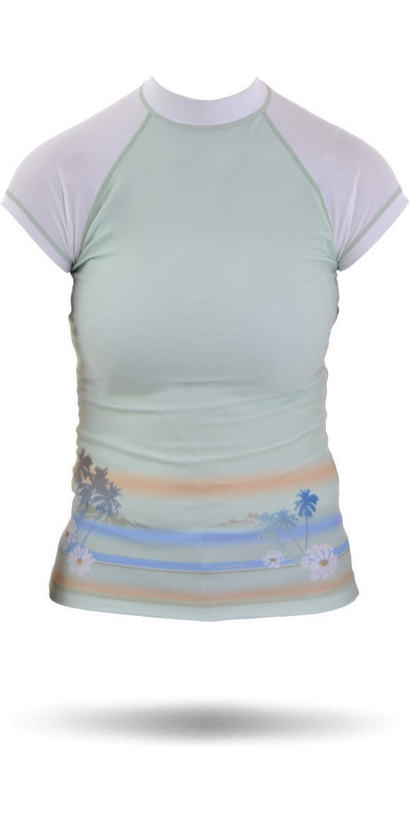 6e3c5927ab2a1 Rip Curl base Bali Rash Vest en vert blanc W7305W - W7305W - Manche ...