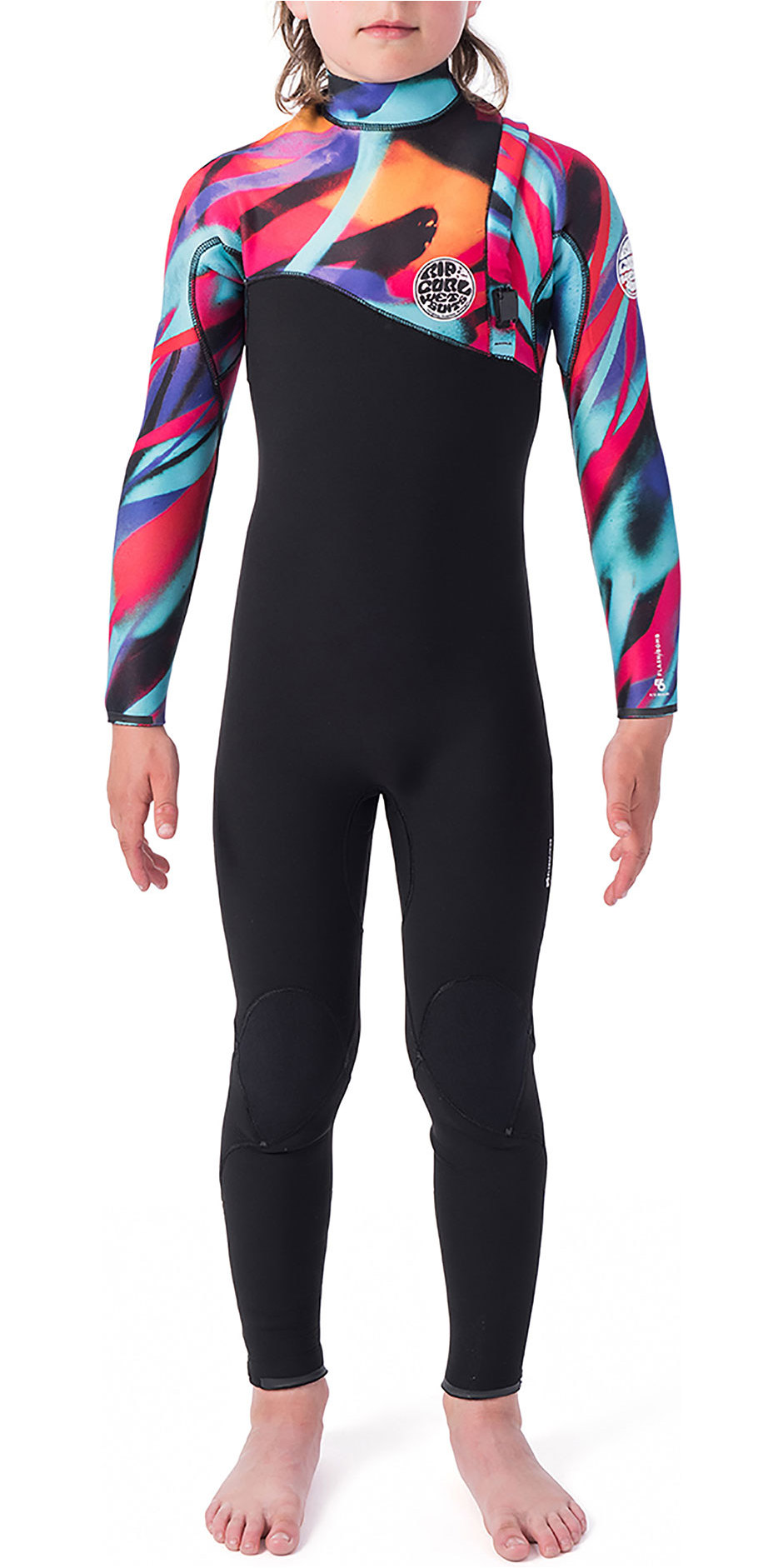 2019 Rip Curl Junior Flash Bomb 3/2mm Zip Free Wetsuit Multi Color Wsm9vu