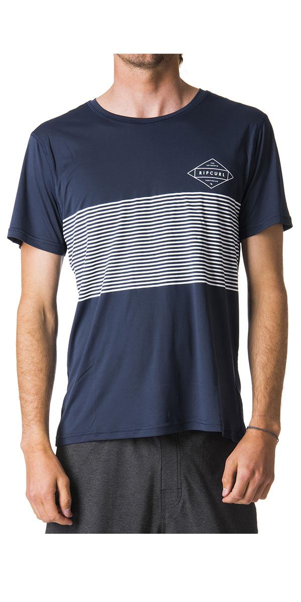 2018 Curl Surflite Linear Navy manica UPF50 UV WLY7CM shirt T a Rip corta rpBw5qtWnr