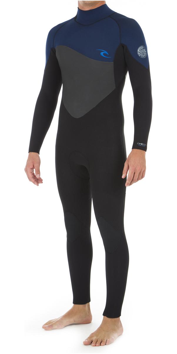 2019 Rip Curl Curl Omega 4/3mm Wetsuit Met Back Zip Navy WSM8JM
