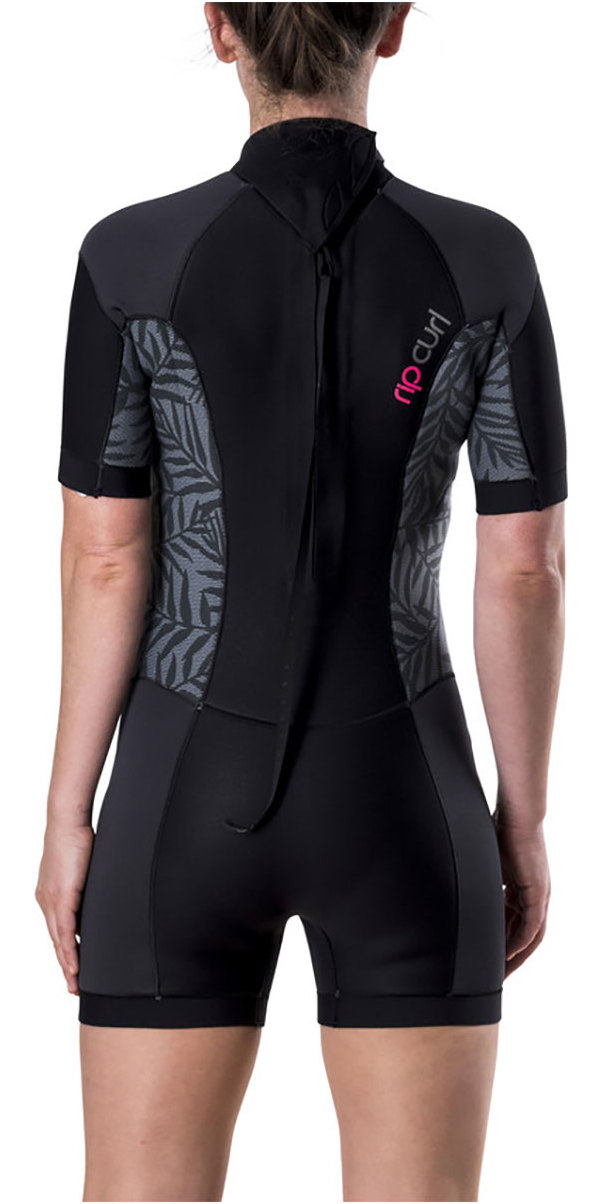 2018 Rip Curl Womens Dawn Patrol 2mm Back Zip Short Wetsuit Neon Pink WSP7FW
