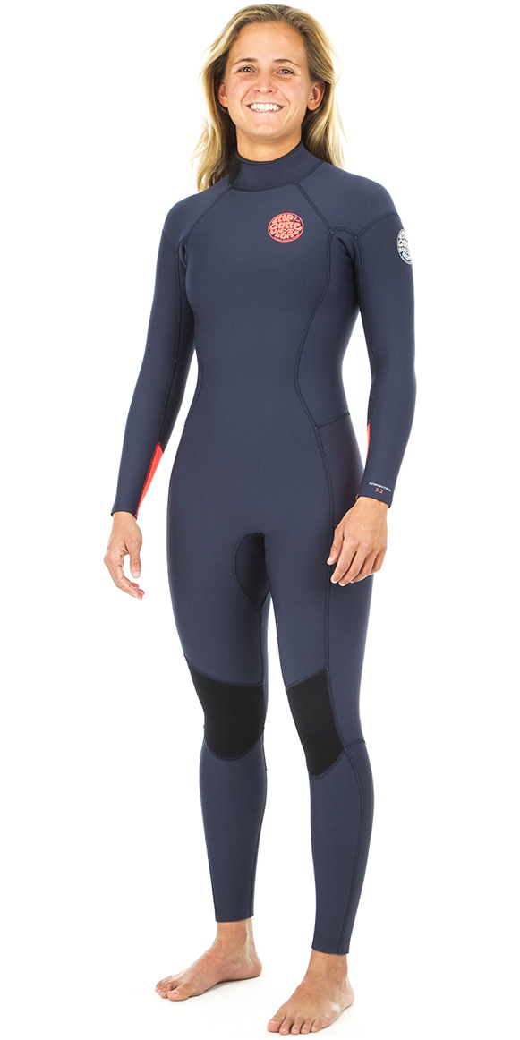 231e183554 2019 Rip Curl Womens Dawn Patrol 5 3mm GBS Back Zip Wetsuit NAVY WSM8EW ...