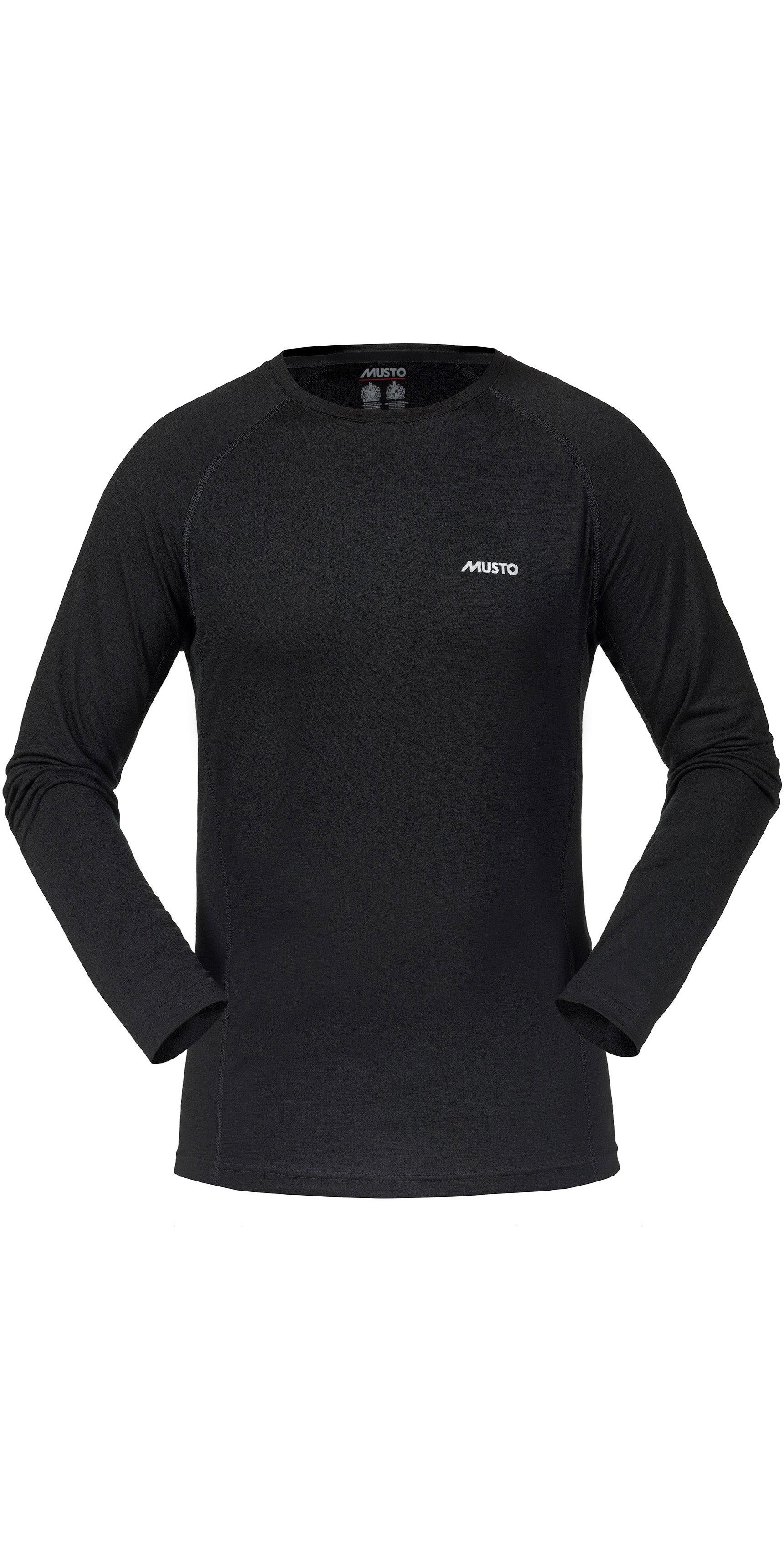 2020 Musto Merino Base Lag Langærmet T shirt Sort Smth027