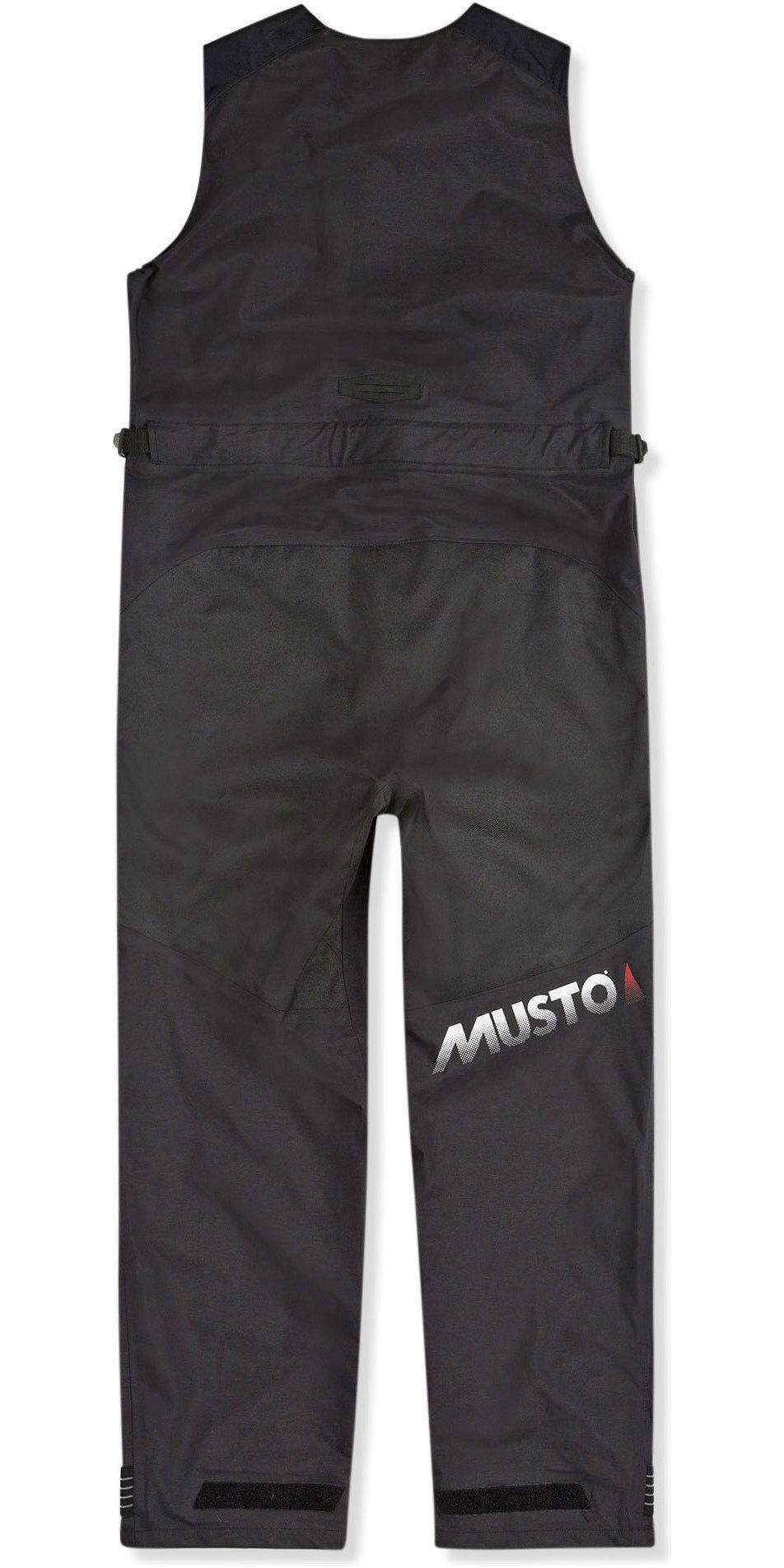 2019 Musto Maschile Br2 Sport Giacca E Salopette Combi Set - Platino / Nero