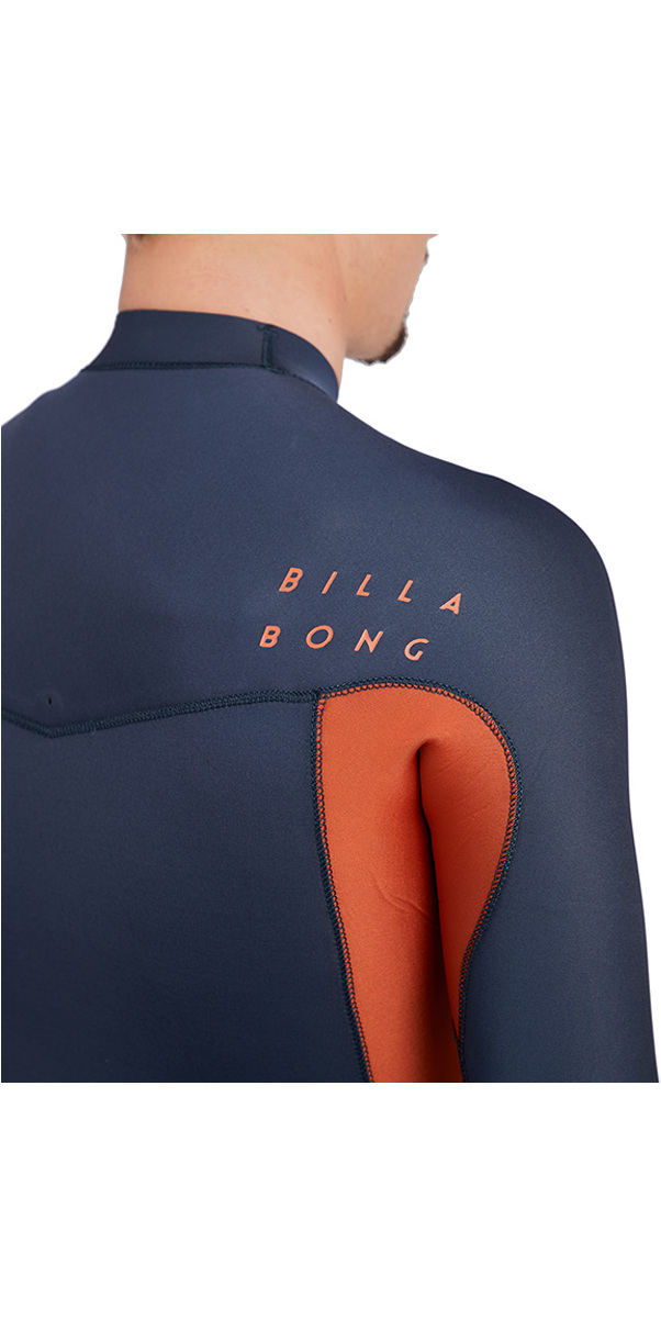 2018 Billabong Furnace Révolution 4 / 3mm poitrine Zip Wetsuit Slate L44M50