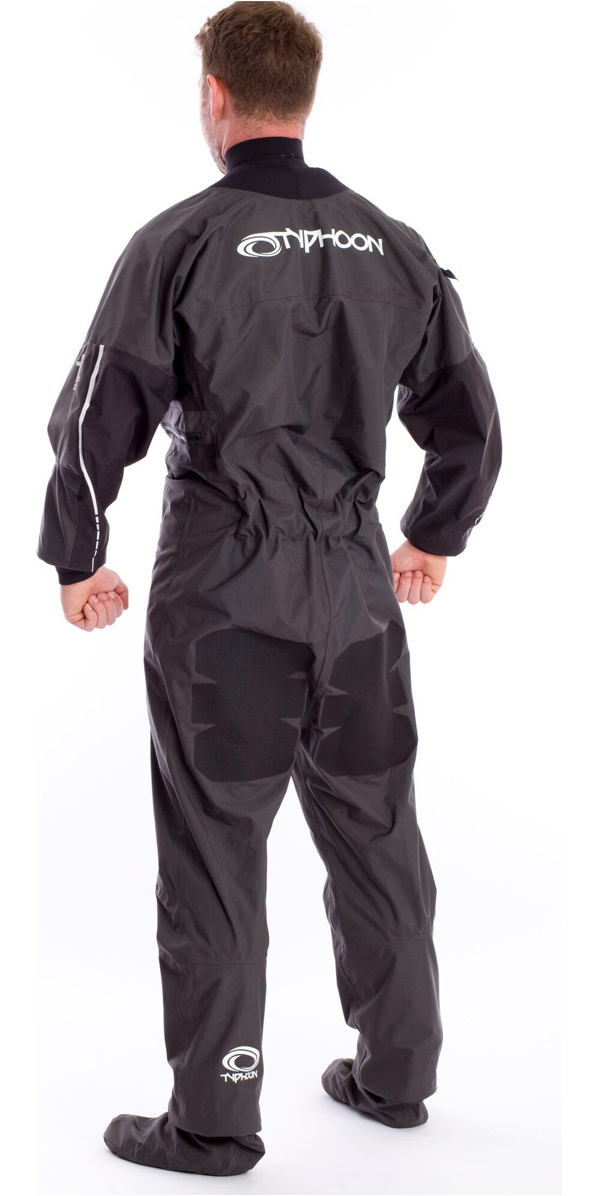 2019 Typhoon Ezeedon 3 Drysuit Front Zip + Tela Calcetines Y Underfleece Gris 100158