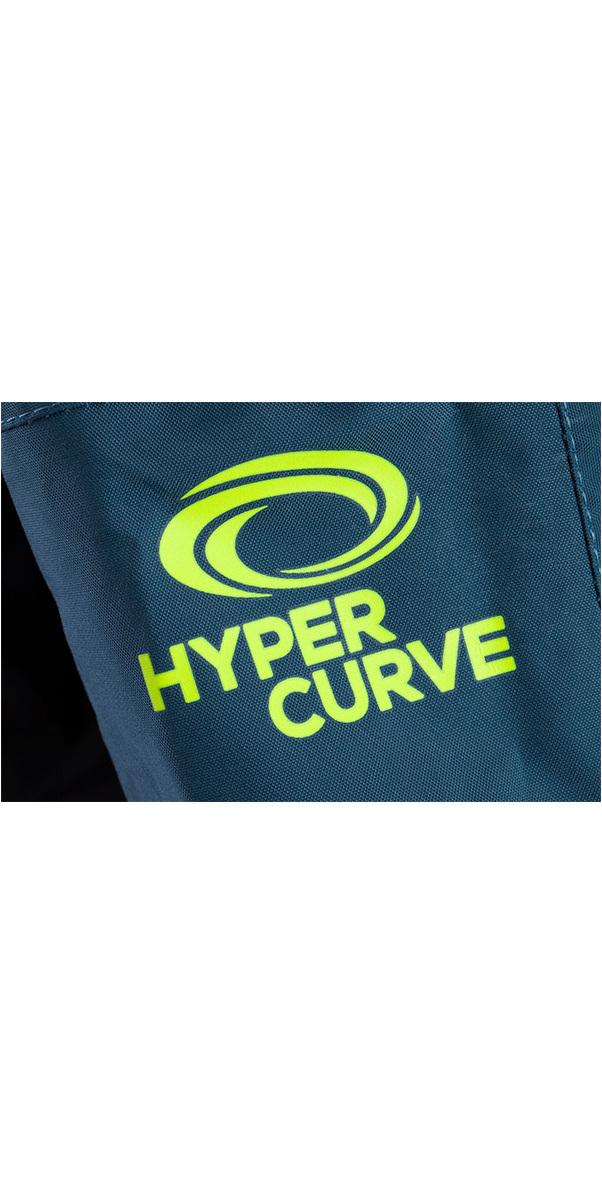 2019 Typhoon Hypercurve 4 Zip posteriore Drysuit con calzini e sottotetto Teal / Grigio 100170