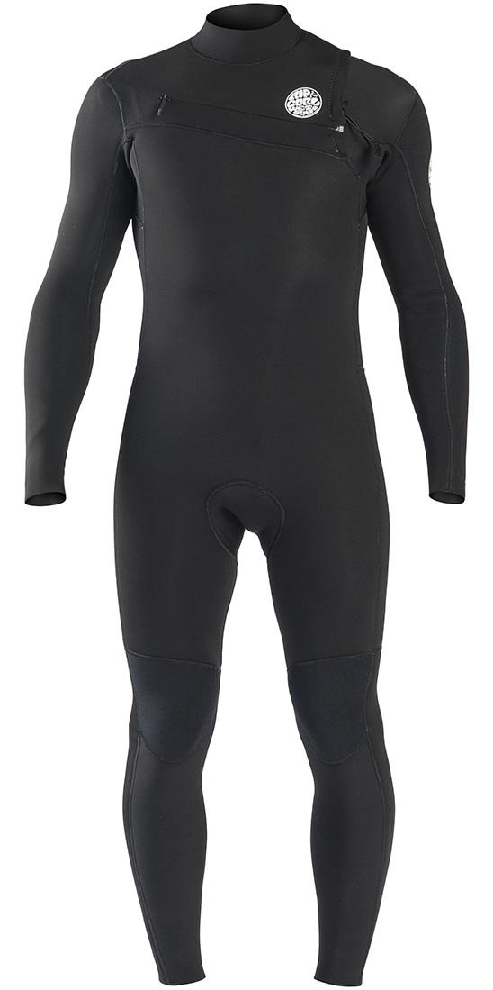 2019 Rip Curl Aggrolite 5 / 3mm Bryst Zip Wetsuit BLACK WSM9SM
