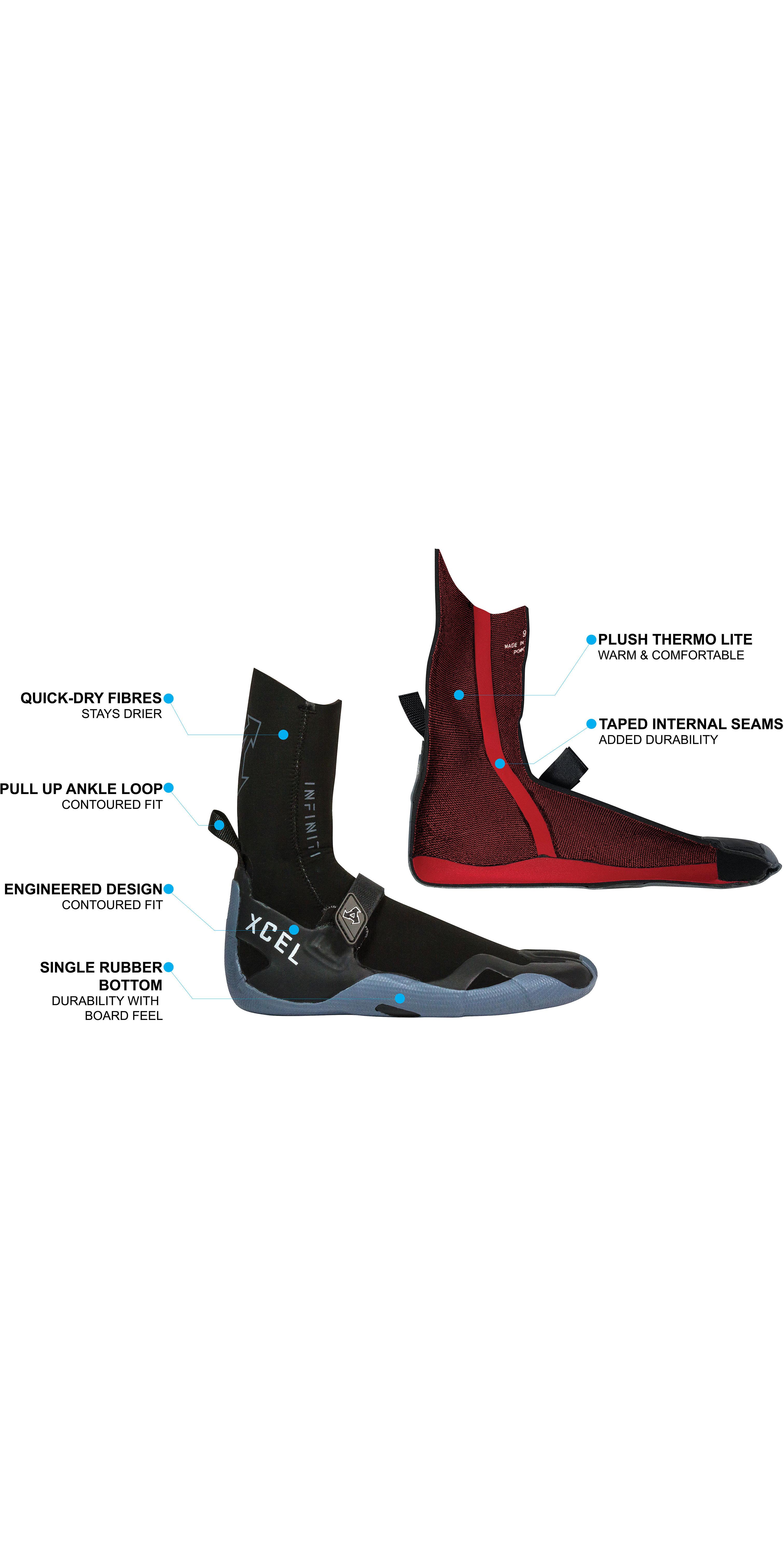 2020 Xcel 5mm Split Toe-laarzen AT057017 - Zwart / Grijs