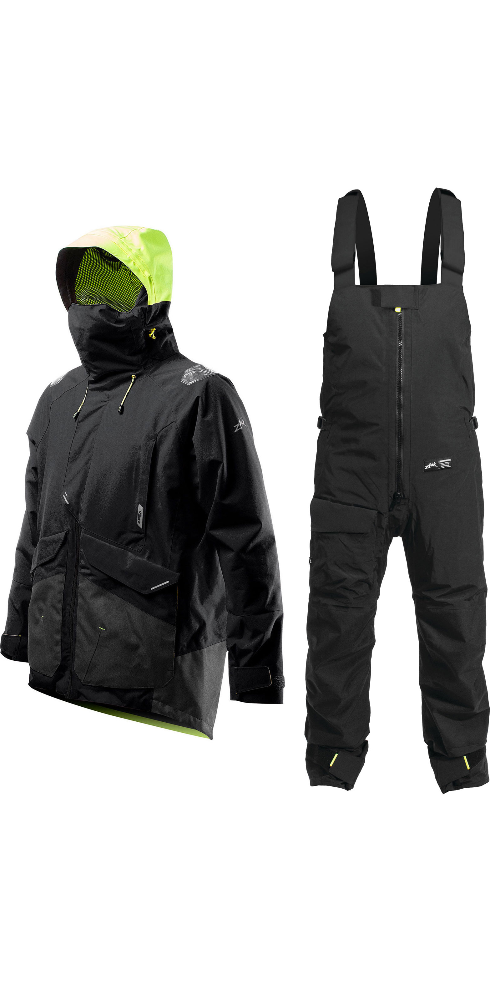 2020 Zhik Mens Apex Offshore Sailing Jacket & Kiama Trouser Combi Set Anthracite Black