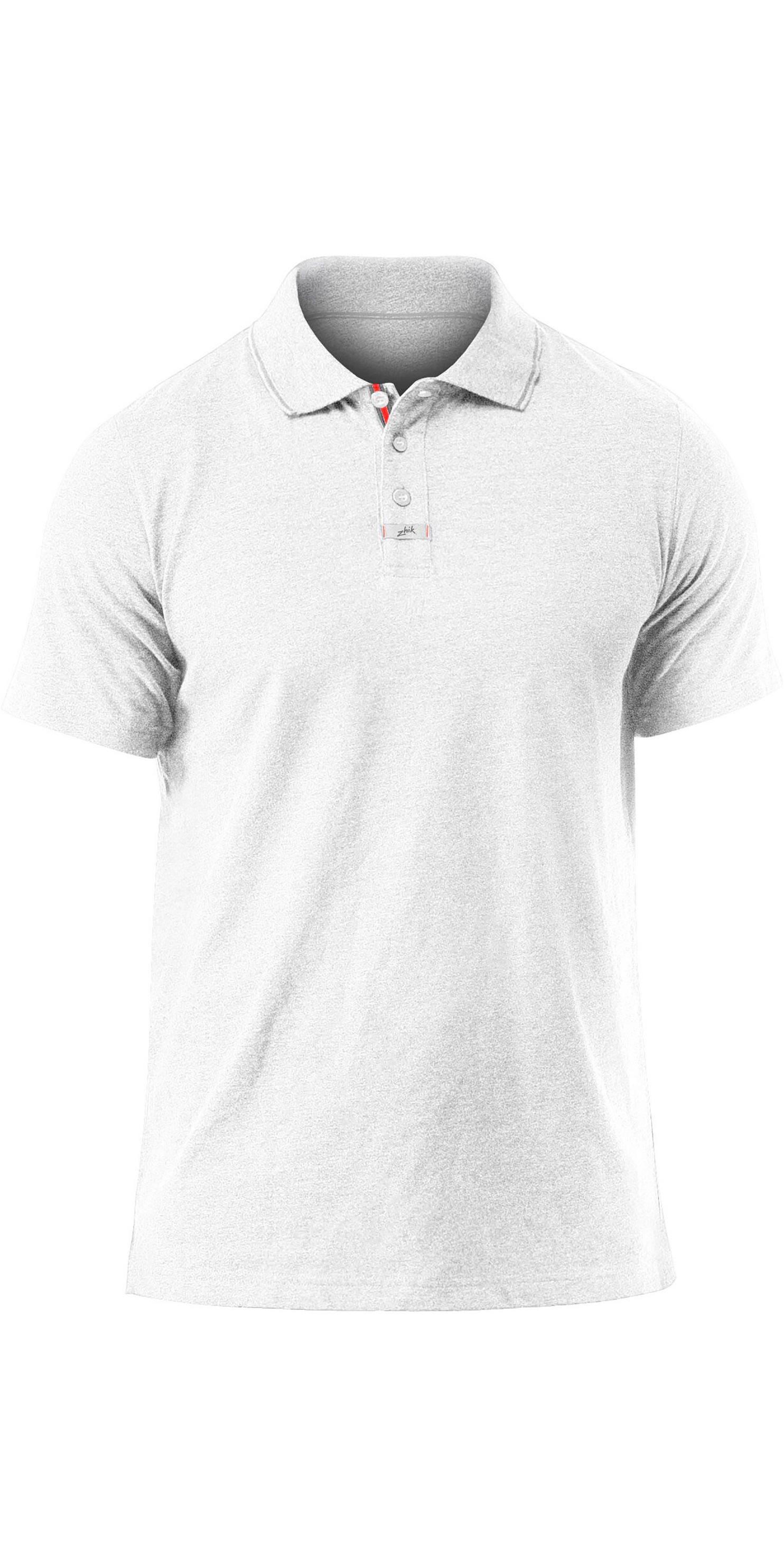 2019 Zhik Herre Let Polo T Shirt Hvid Marl POL0005