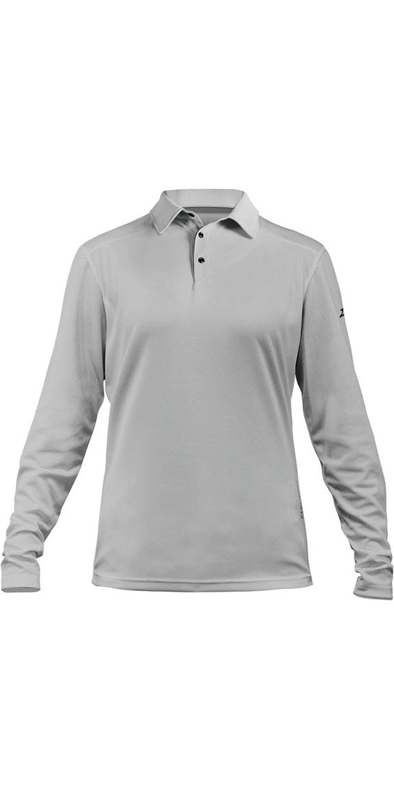 8852f994 2018 Zhik Womens Zhikdry Lt Long Sleeve Polo Top Ash 0850W - Polo ...