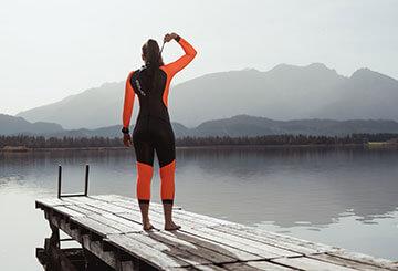 Open Water Swimming Swim Through Autumn