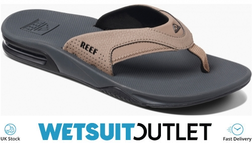 search for newest superior performance choose authentic Reef Mens Fanning Flip Flops Tan/Black Flip Flops RF002026 | Footwear |  Wetsuitoutlet