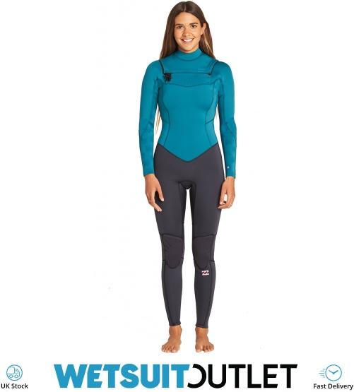 7c41d08d3f 2019 Billabong Womens Furnace Synergy 3 2mm Chest Zip Gbs Wetsuit Pacific  N43g03 - N43g03 - Womens -