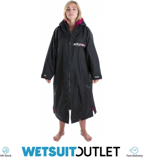 Dryrobe Advance Long Sleeve Premium Outdoor Change Robe Purple Grey Water