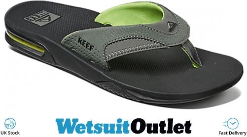 9665aad25 2018 Reef Fanning Bottle Opener Flip Flops Black Green R02026 - R02026 - Flip  Flops - Footwear - by