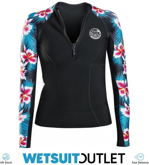 c75a251f78 Rip Curl Womens G-bomb 1mm Long Sleeve Front Zip Neo Jacket Black Sub  Wve6kw - Wve6kw - Womens Neoprene