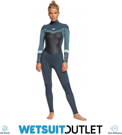 Roxy Synchro 4//3mm Chest Zip Wetsuit Deep Grey RRP £180 Size 8