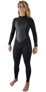 2021 O'Neill Womens Reactor II 3/2mm Back Zip Wetsuit BLACK 5042