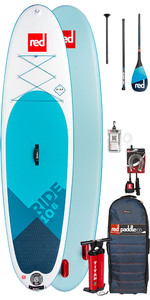2019 Red Paddle Co Ride 10'6 Aufblasbaren Stand Up Paddle Board - Carbon 100 Paket