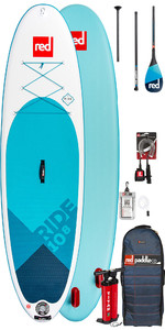2019 Red Paddle Co Ride 10'8 Aufblasbaren Stand Up Paddle Board - Carbon-100-Paket