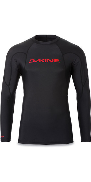 2018 Dakine Heavy Duty Snug Fit manica lunga Rash Vest nero 10001655