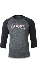 Dakine Roots Ragaln Loose Fit 3/4 mouwen Surfshirt Black Heather 10001665