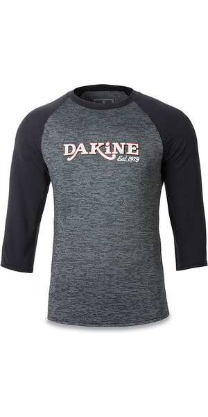 2018 Dakine Roots Ragaln Loose Fit 3/4-Ärmeln Surf Shirt Schwarz Heather 10001665