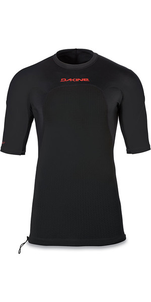 2018 Dakine Storm Snug Fit Short Sleeve Rash Vest Black 10001667