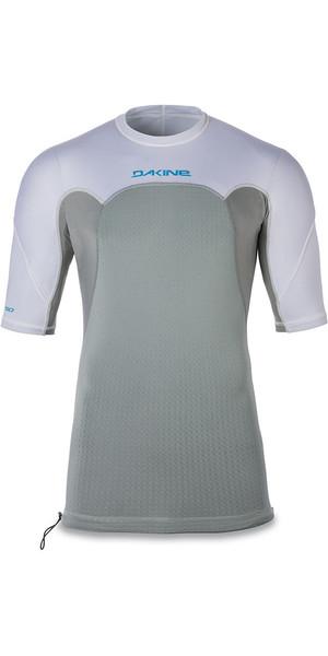 2018 Dakine Storm Snug Fit Short Sleeve Rash Vest White 10001667