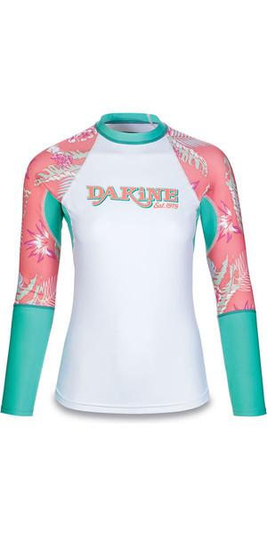 2018 Dakine Damen Flow Print Snug Fit Langarm Rash Vest Waikiki 10001677