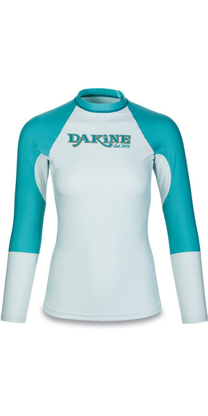 2018 Dakine Womens Flow Snug Fit maniche lunghe Rash Vest Bay Islands 10001678