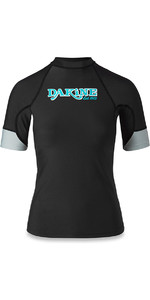 2018 Dakine Womens Flow Snug Fit manches courtes Rash Vest noir 10001680