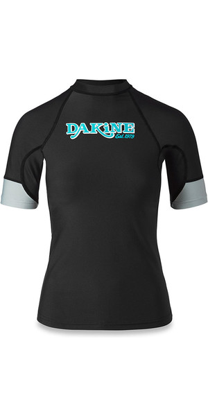 2018 Dakine Womens Flow Snug Fit Short Sleeve Rash Vest nero 10001680