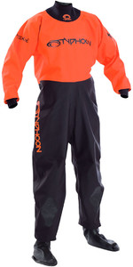 2019 Typhoon Junior Rookie Drysuit calcetines de neopreno negro / naranja 100171