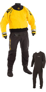 2019 Typhoon Multisport 5 Cerniera Drysuit inclusa Con zip e sottovello NERO / GIALLO 100165