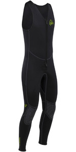 2021 Palm Quantum 3mm Neoprene Front Zip Long John Wetsuit BLACK 12235