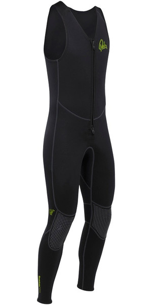 2018 Palm Quantum 3mm Zip anteriore in neoprene lungo John NERO 12235