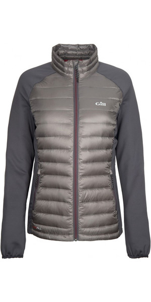 2018 Gill Womens Hybrid Down Jacket Pewter 1064W