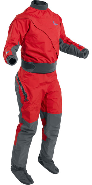 2019 Palm Womens Cascade Front Zip Kayak Drysuit + Drop Sæde Flame Red 12369