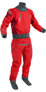 2020 Palm Men's Atom Back Zip Kayak Fato Drysuit + Con Zip Flame / Chili 12380