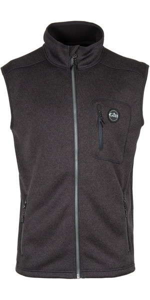 2018 Gill Mens Knit Fleece Gilet Graphit 1494