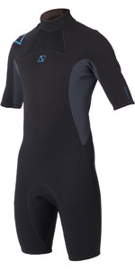 2020 Magic Marine Junior Brand 3/2mm Shorty Wetsuit Black / Blue 160030
