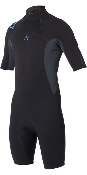 2019 Magic Marine Junior Brand 3/2mm Shorty Wetsuit Black / Blue 160030