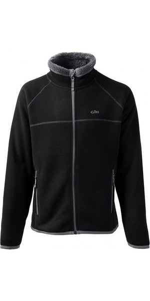 2018 Gill Mens Polar Fleece jack in zwart / zilver 1700