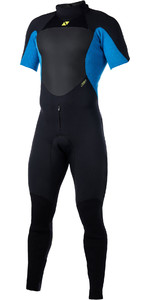 2019 Magic Marine Heren Ultimate 3/2mm Back Zip Korte Arm Wetsuit Blauw 170051