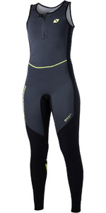 2019 Magic Marine Damen Ultimate 1.5mm Long John Wetsuit Schwarz 170055
