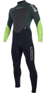 2019 Mystic Star 3/2mm Gbs Back Zip Wetsuit Verde 180020